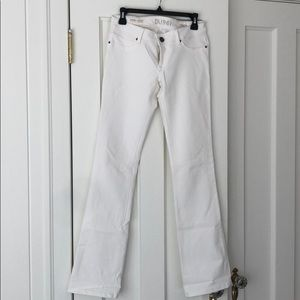 DL 1961 Cindy Slim bootcut white jeans, 28